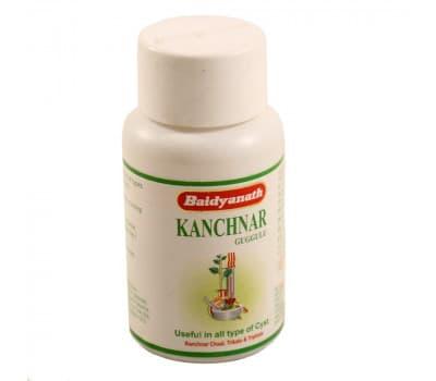 Канчнар Гуггул Байдьянатх / Kanchnar Guggulu Bidyanath - 80 таб (Для Лимфатической системы)