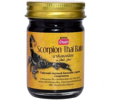 Черный бальзам с ядом скорпиона / Scorpion Тhai Balm Banna - 50 гр