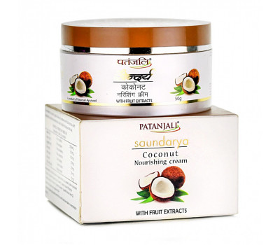 Крем Кокос Патанджали / Coconut Nourishing Cream Patanjali - 50 гр (Увлажняющий)