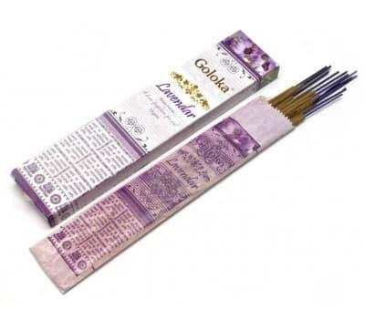 Благовония Лаванда Голока / Natures Lavender Goloka - 15 гр
