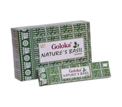 Благовония Базилик Голока / Natures Basil Goloka - 15 гр