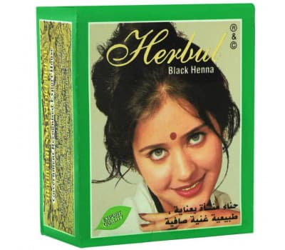 Хна черная для окрашивания волос Herbul, 6х10 гр
