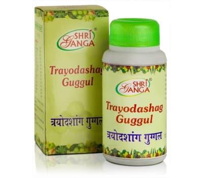 Трайодашанг Гуггул Шри Ганга / Trayodashang Guggul Shri Ganga - 100 г (Для Суставов)