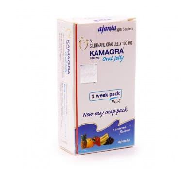 Камагра Гель Аджанта / Kamagra Oral Jelly Ajanta - 100 мг (Для Улучшения Эрекции)