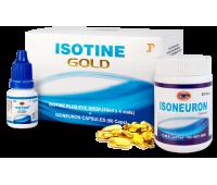 Комплекс Айсотин голд / Isotine Gold caps - 4х10мл + 60 капс (Для Зрения)