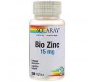 Цинк Solaray, 15 мг, 100 растительных капсул