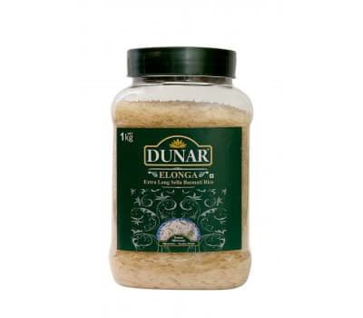 Рис Басмати Дунар Элонга Селла / Dunar Elonga Sella RIce - 1 кг (Длиннозерный, пропаренный)