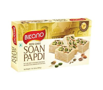 Соан Папди Бикано c маслом Гхи / Soan Papdi Bikano Desi Ghee - 250 гр (Десерт)