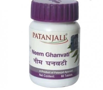 Ним Гханвати Патанджали / Neem Ghanvati Patanjali, 60 таб(Для кожи)