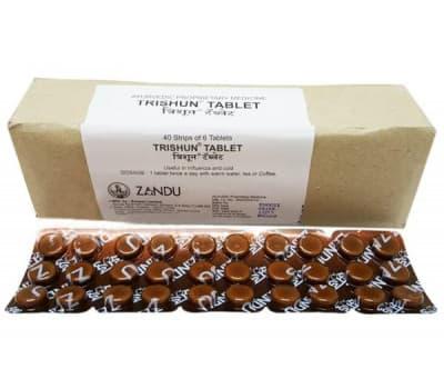 Тришун Занду / Trishun Zandu - 30 таб (От Простуды)