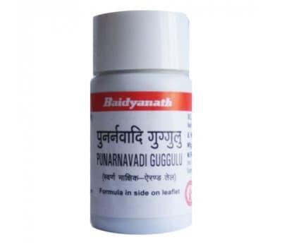 Пунарнавади Гуггул Байдьянатх / Punarnavadi Guggulu Baidyanath - 80 таб (Для Мочеполовой Системы)