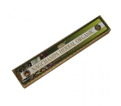 Благовония Наг Чампа Органик Хербал / Nagchampa Organic Herbal Ppure - 15 гр