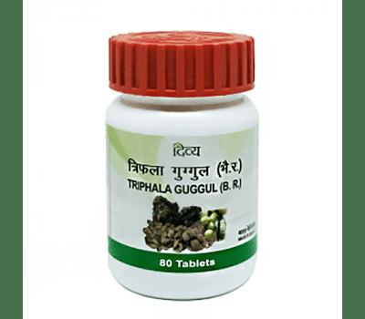 Трифала Гуггул Дивья / Triphala Guggul Divya - 80 таб (Очищение)