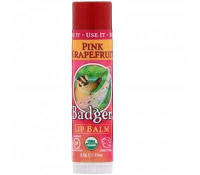 """Органический бальзам для губ """"Розовый грейпфрут"""", Badger Company"""