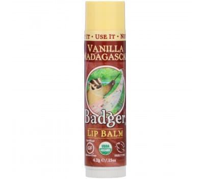 """Бальзам для губ органический """"Мадагаскарская Ваниль"""", Badger Company"""