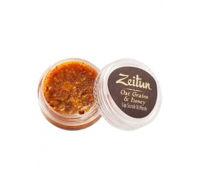 Скраб-маска для губ с гранулами овса Zeitun