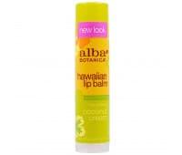 Бальзам для Губ Гавайский с Кокосом Альба Ботаника / Alba Botanica Hawaiian Lip Balm Coconut Cream - 4 гр