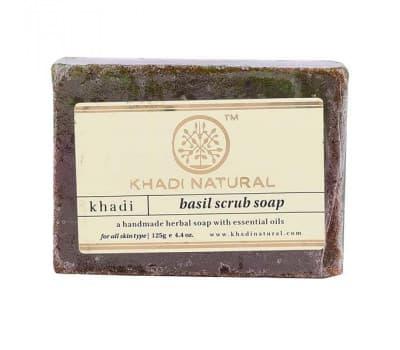 Мыло-скраб Базилик Кхади / Basil Scrub Khadi - 125 гр