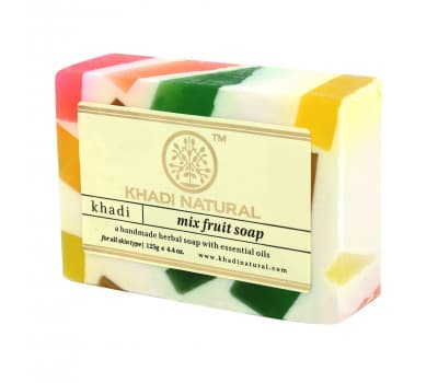 Мыло Фруктовый Микс Кхади / Mix Fruit Khadi - 125 гр (Ручной Работы)