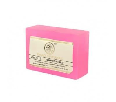 Мыло с розовой водой Кхади - 125 гр (Ручной Работы)