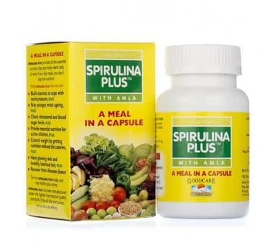 Спирулина Плюс Байдьянатх / Spirulina Plus Baidyanath - 60 капс (Общеукрепляющее)