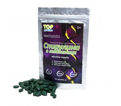 Органическая спирулина в таблетках - TOP Spirulina