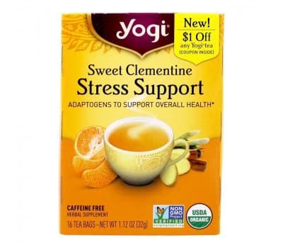 YOGI TEA Сладкий Клементин/ Поддержка при стрессе, 16 пакетиков