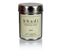 Хна для волос Черная Кхади / Herbal hair colour black Khadi, 150 гр